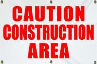 Caution Construction Area - Large (4x6)