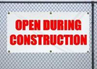 Open During Construction - Small (2x4)